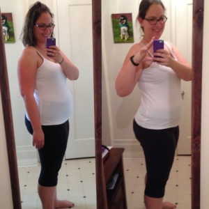 Before and after my 4-week Dietbet. I've lost another 5 more pounds since then