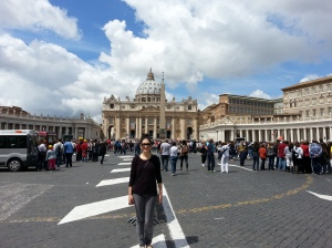 In front of St. Peter's Square