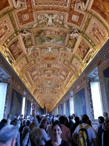 This isn't the famous Sistine Chapel ceiling but it was breathtaking nonetheless (even somewhat more than the Chapel to be honest)