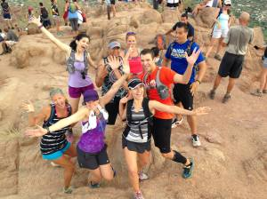 Our obligatory goofy pic (apparently, goofy means outstretched arms lol!) Photo Courtesy: Zucchini Runner