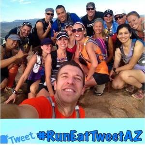 The #RunEatTweetAZ crew