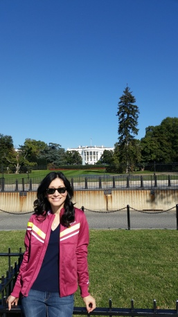 Taking my new jacket for a stroll by the White House--nbd.