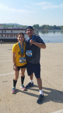 Me and the bro after his first half marathon