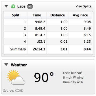 How's that for humidity Kristina? ;)
