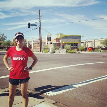 A #TeamRMHC pic on McDonald Drive in front of a McDonald's :D