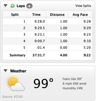 A sub 100 degree run??? Wha???