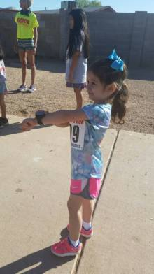Waiting for go time to start her Garmin <3