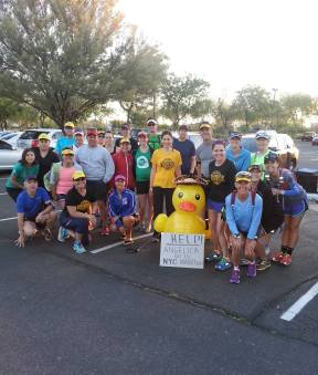 So lucky to have an amazing running family <3 (the duck is an inside club joke, lol!)