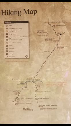 You can see our route coming down from the North Rim to Phantom Ranch in this map