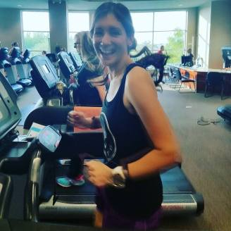 Having too much fun on the treadmill :D