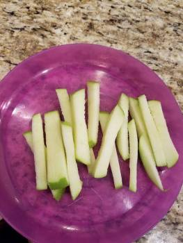 VOILA!! Apple fries!!