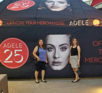 Mom, Adele's face, and Me :D