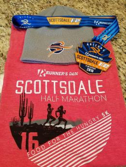 This race was a steal at $45 (early registration). Gender specific tee and beanie ftw!