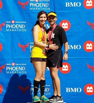 Me and my 3:17 marathoner <3