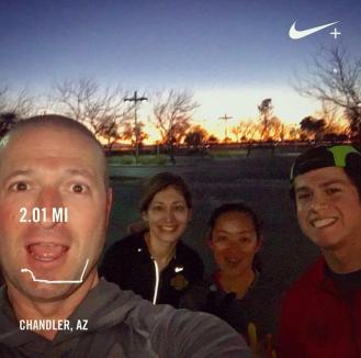 Shakeout run with the Texas gang